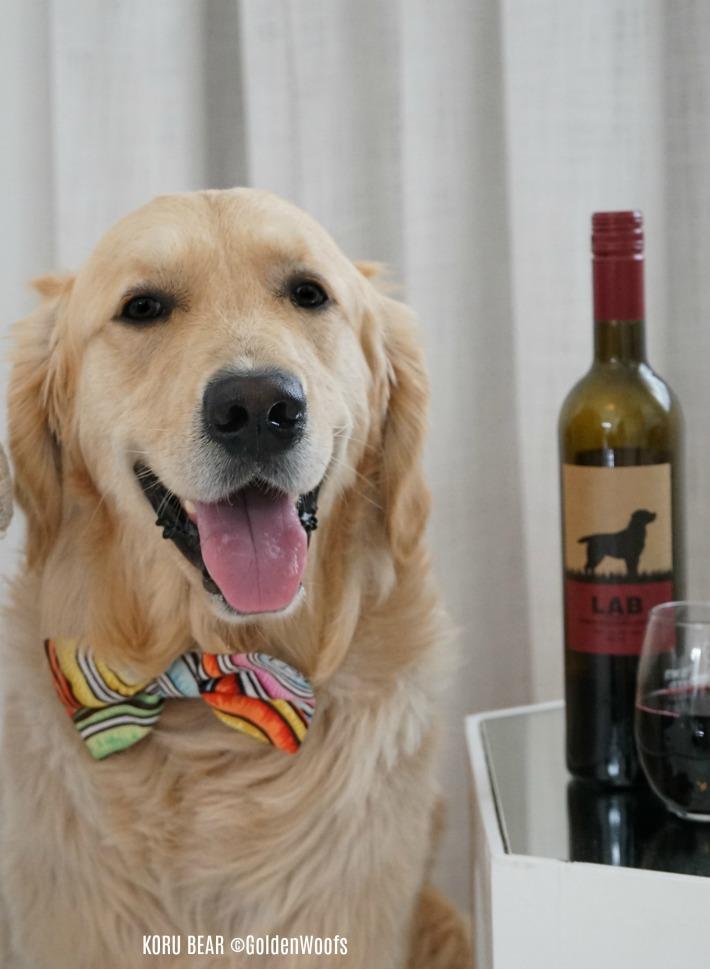 Dog themed wine label