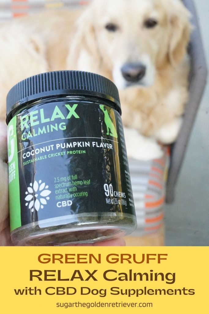 Green Gruff RELAX dog supplements with CBD