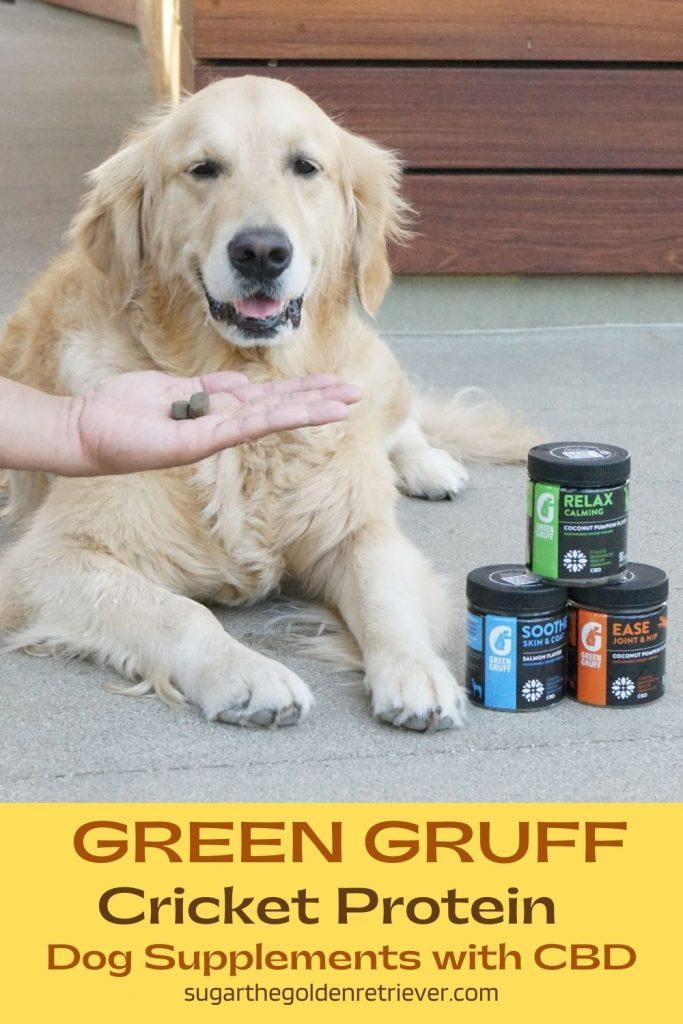 cricket protein green gruff dog supplements with CBD