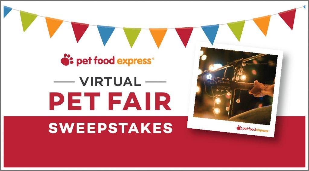 Pet Food Express Pet Fair Sweepstakes